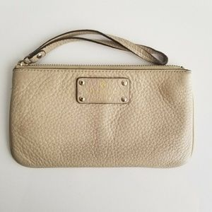 Kate Spade Leather Wristlet/Clutch Ivory